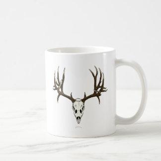 Mule deer skull mug