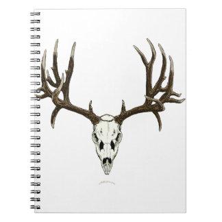 Mule deer skull note book