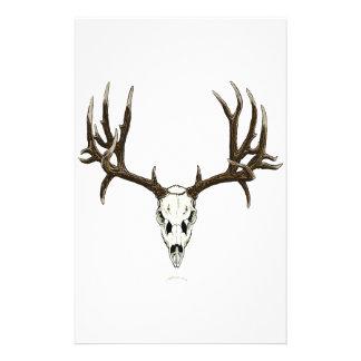 Mule deer skull personalized stationery