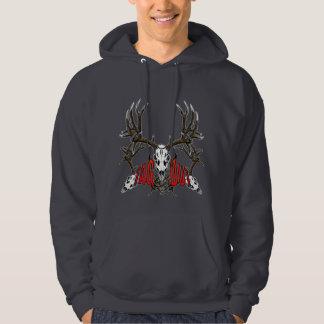 Mule deer skull tag out, 3 hoodie