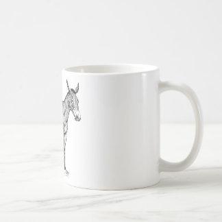 Mule Drawing, Stubborn Coffee Mug