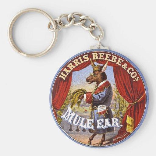 Mule Ear Tobacco Ad Vintage 1868 Key Chain