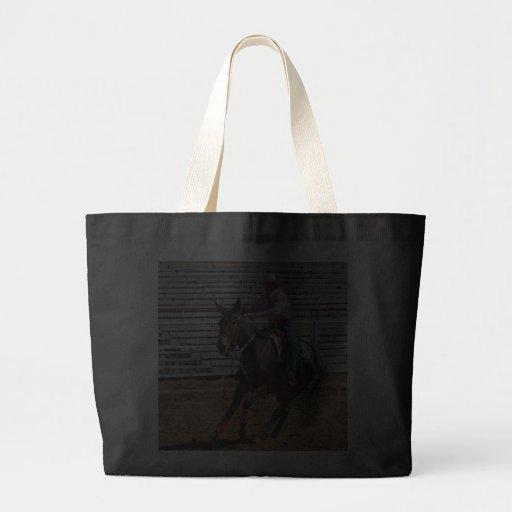 mule in pole bending class canvas bag