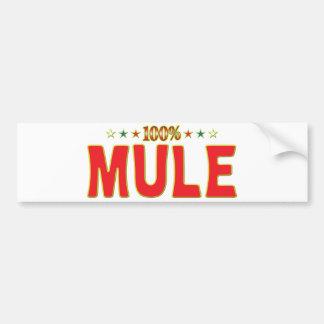 Mule Star Tag Bumper Sticker