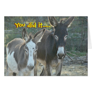 Mules Anniversary card- customize any occasion Card