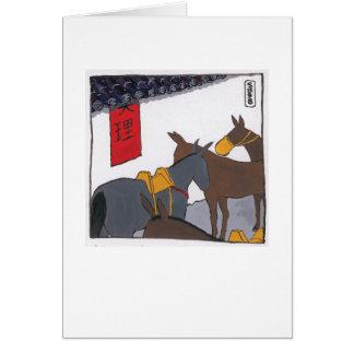 Mules in China Card