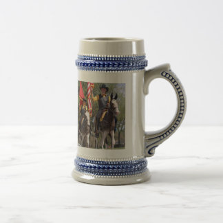 Mules in Mule Day parade Beer Stein