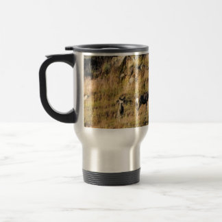 Muley Doe & Fawn Travel Mug