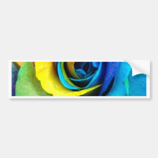 Mulit-Colored Rose by SnapDaddy, can Personalize! Bumper Sticker