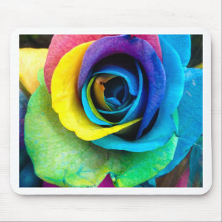 Mulit-Colored Rose by SnapDaddy, can Personalize! Mouse Pad