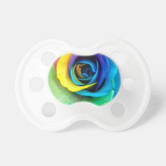 Mulit-Colored Rose by SnapDaddy, can Personalize! Pacifier