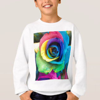 Mulit-Colored Rose by SnapDaddy, can Personalize! Sweatshirt