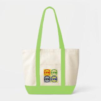 Mulitcolored Lime Tote Impulse Tote Bag