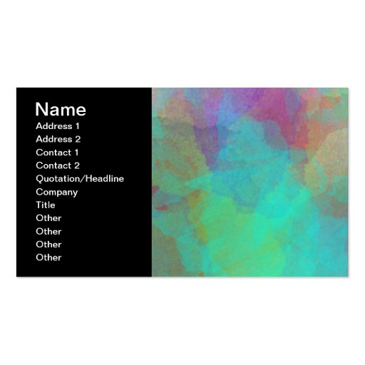 Mulitcolored Watercolor Painting Artwork Business Cards