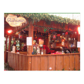 Mulled Wine Booth in Hamburg Postcard