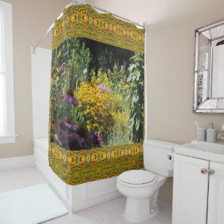 Mullein Black Eyed Susans Echinacea Shower Curtain