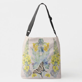 Mullein Butterfly Herb Flowers Garden Tote Bag