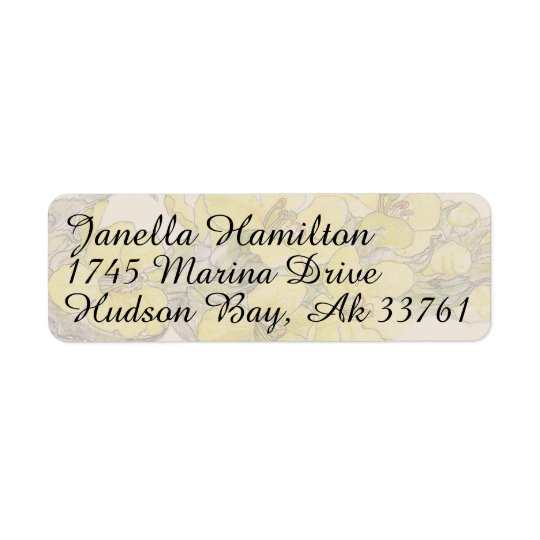 Mullein Herb Floral Flowers Address Labels