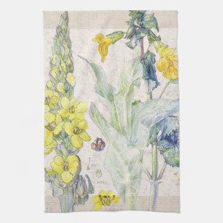 Mullein Wildflowers Flowers Kitchen Towels
