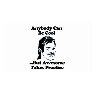 Mullet, Anybody can be cool but awesome... Pack Of Standard Business Cards