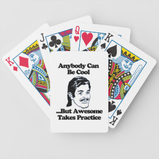 Mullet, Anybody can be cool but awesome... Playing Cards