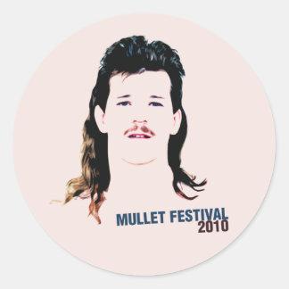 Mullet Festival 2010 Round Sticker