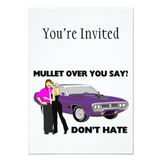 Mullet Over Think Again 13 Cm X 18 Cm Invitation Card