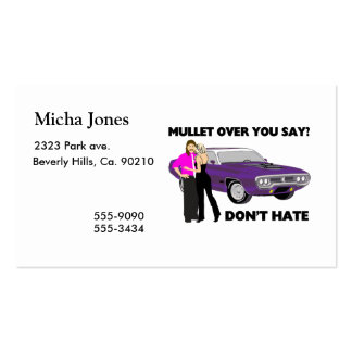 Mullet Over Think Again Pack Of Standard Business Cards