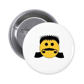 Mullet Smiley 6 Cm Round Badge