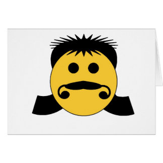 Mullet Smiley Greeting Cards