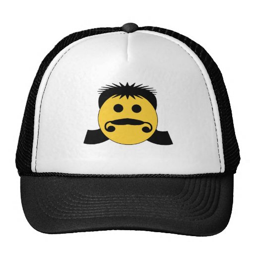 Mullet Smiley Mesh Hats
