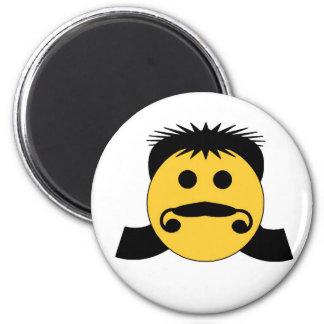 Mullet Smiley Refrigerator Magnet