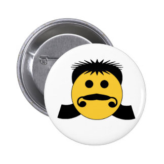 Mullet Smiley Pins