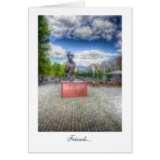 Mulltatuli Statue, Amsterdam - Friends Greeting Card