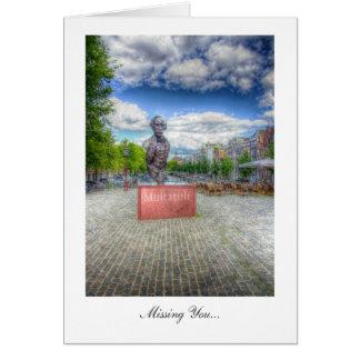 Mulltatuli Statue, Amsterdam - Missing You Greeting Card