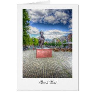 Mulltatuli Statue, Amsterdam - Thank You Greeting Card
