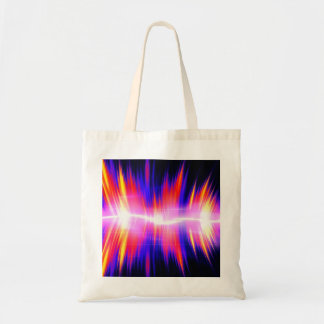 Mullticolored Abstract Audio Waveform Tote Bag