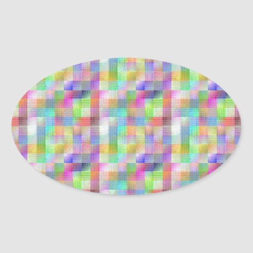 MULTI262 COLOURFUL SQUARE PATTERNS SHADES COUNTRY STICKER