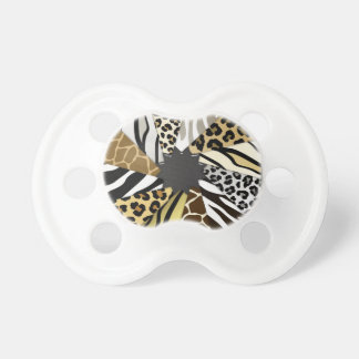 Multi Animal Prints Zebra Tiger Add Text Initial Dummy