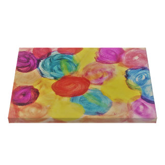 multi-balls colours art canvas print