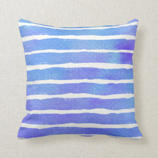 Multi Blue Pur Striped Watercolor - All Fabricks S Cushion