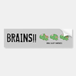Multi-Brain - Brain Injury Awareness x3 Bumper Sticker