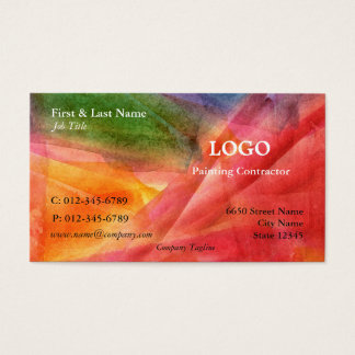Multi-Color Artistic Business Card
