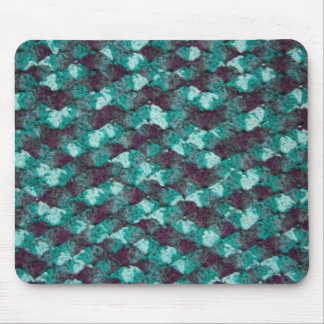 Multi-color blue crochet mouse pad
