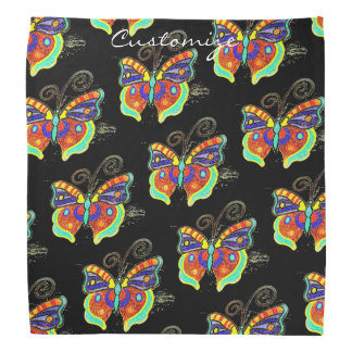 Multi-color butterfly any background Thunder_Cove Bandana