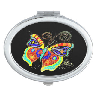 Multi-color butterfly any background vanity mirror