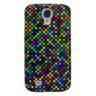 Multi Color Checker Pattern Samsung Galaxy S4 Covers