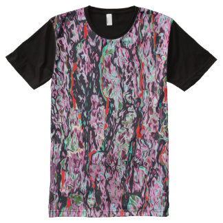 Multi-Color Chic Abstract Pattern All-Over Print T-Shirt