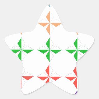 Multi color diamond shape modern elegant chic cute star stickers