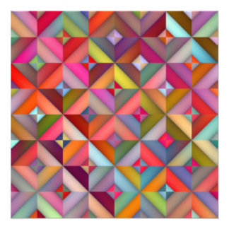Multi Color Diamond Shape Pattern Print Design